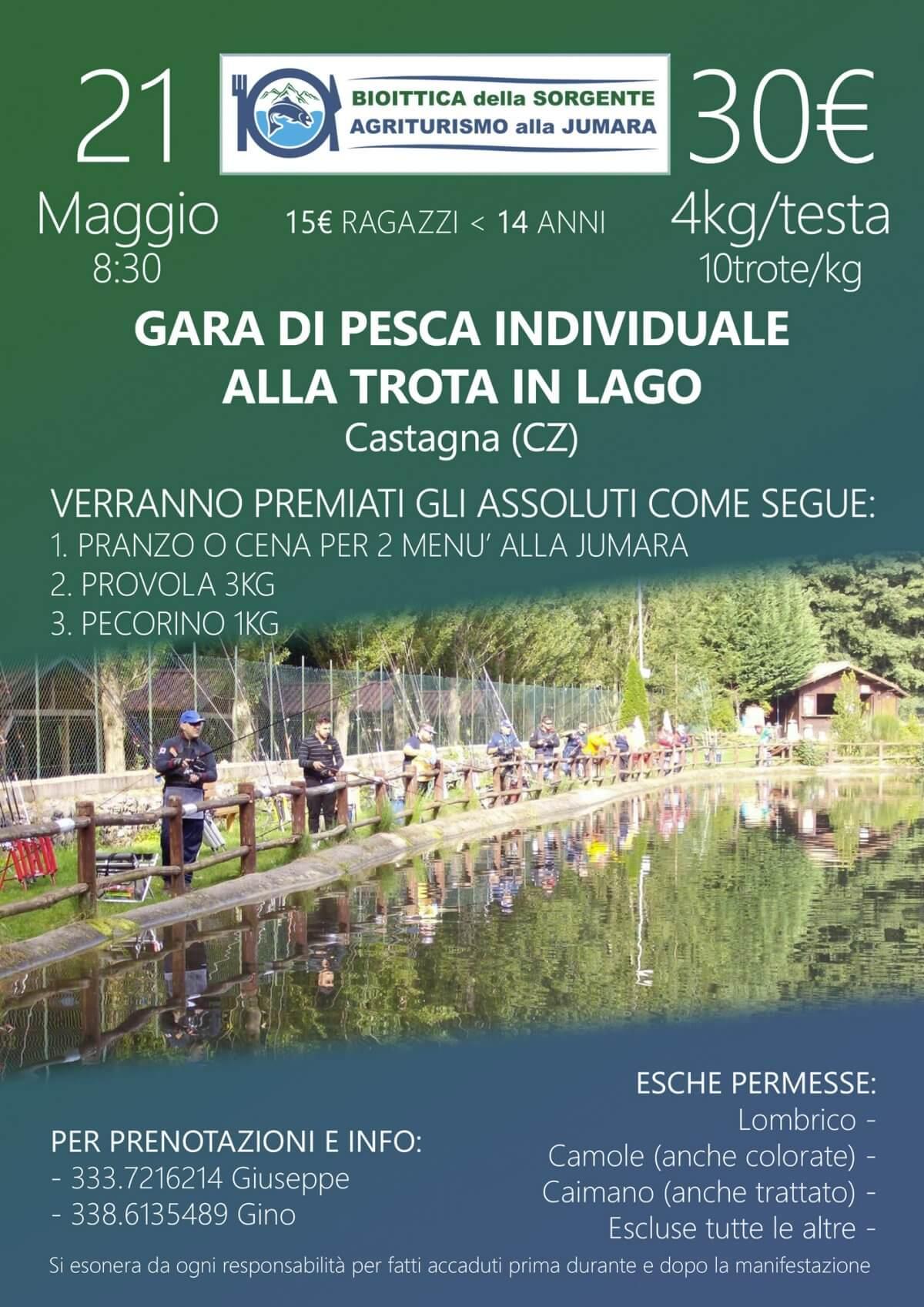 Gara individuale di pesca alla Trota in Lago – 21 Maggio 2017